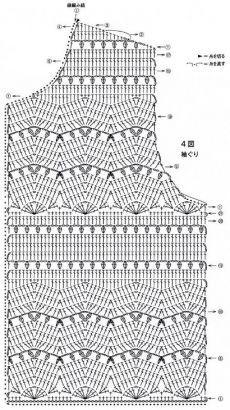 Uncinetto d& Elegante completto - gonna, giacca! Pull Crochet, Gilet Crochet, Crochet Shirt, Crochet Jacket, Freeform Crochet, Crochet Diagram, Crochet Cardigan, Crochet Motif, Crochet Stitches