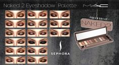 Eyeshadow 2 Palette 15 different looks at MAC Cosimetics via Sims 4 Updates