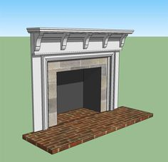 Just the top piece Fireplace Facade, Faux Fireplace, Fireplace Surrounds, Fireplace Ideas, Fireplaces, Diy Mantel, Mantel Ideas, Diy House Projects, Living Room Inspiration