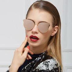 Reflective Mirror Metal Frame Sunglasses - Zeelous Street Style