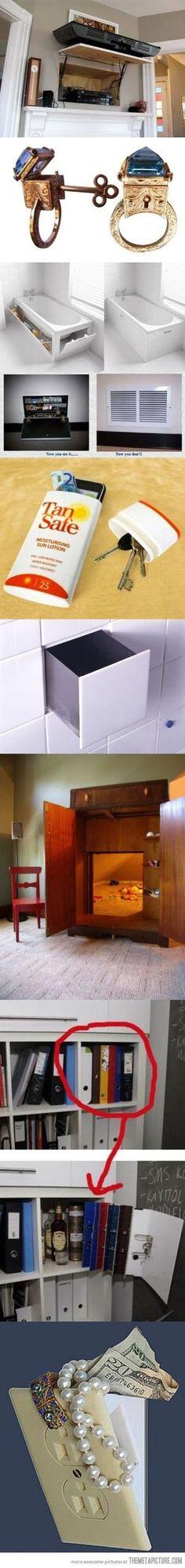 Clever hiding spots by laramysue