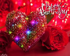 Birthday Quotes : Colorful Heart Happy Birthday Gif - The Love Quotes Animated Birthday Greetings, Birthday Wishes Gif, Happy Birthday Greetings Friends, Happy Birthday Hearts, Happy Birthday Video, Cute Happy Birthday, Birthday Wishes And Images, Happy Birthday Celebration, Birthday Roses