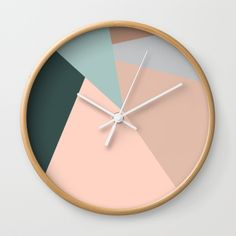 light pink triangles Wall Clock by Cau Lacerda. Worldwide shipping available at Society6.com. Just one of millions of high quality products available.