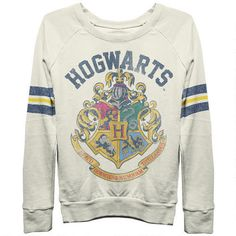 I WANT THIS!  Hogwarts Sweatshirt #harrypotter