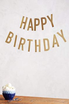 Festive Happy Birthday Banner - anthropologie.com