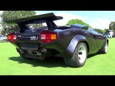 Lamborghini Countach LP 5000S Start up And Drive  Мiami Beach Concours 2015