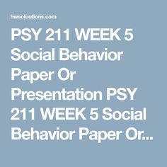 Psy  Week  A Research Plan Psy  Week  A Research Plan Psy