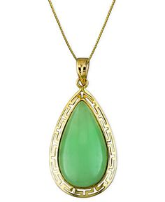 10k Gold Pendant, Jade - Necklaces - Jewelry & Watches - Macy's