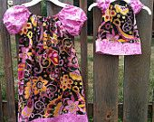 Match Me Dolly and Big Girl Peasant Dress, sizes 5-9