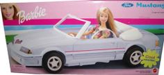 Barbie Ford Mustang Cool Convertible Car Vehicle (2002)  #barbiecollector