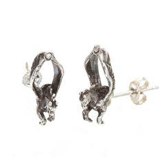 Diamond Pegasus Studs  by SNASH JEWELRY