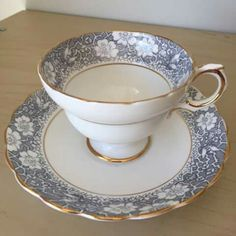 Pretty teacup and saucer