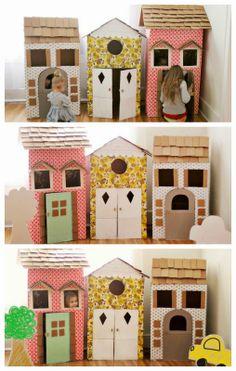 Casas de carton para niños