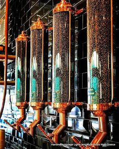 STUDIO NIOTIS: Vintage copper coffee bean silo F15