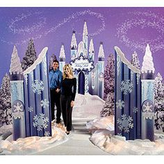Our exclusive Ice Castle Kit will set the scene for any winter wonderland party or event. The ice castle decorating kit features an ice castle, gates and winter tree standees.