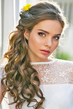 40 Gorgeous Side Swept Wedding Hairstyles | Side swept, Wedding and ...