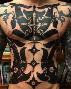 borneo tribal tattoo in blackwork. Hawaiian Tribal Tattoos, Samoan Tribal Tattoos, Seven Seas Tattoo, Iban Tattoo, Maori Tattoos, Tattos, Blackwork, Body Art Tattoos, Cool Tattoos