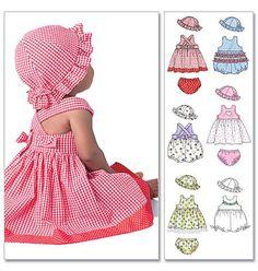 Vestidos de Laura Ashley 4424 de los infantes de Oop McCall