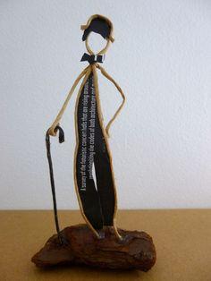 Hommage à Charlot - figurine en ficelle et papier : Accessoires de maison par ficelleetpapier: