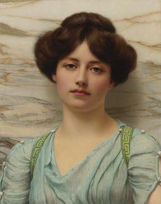 """""""Carina"""" by John William Godward"""