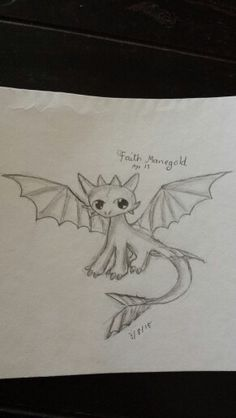 Toothless from how to train you dragon doodle by me. (For @serdmier ) I normally use another picture and try to put it on paper but I want to try to find my own style so I did this one on my own. Any advice for the future is always welcome ^-^ (If anyone repins please give credit) –Faith Manegold