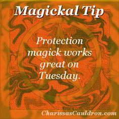 Magickal Tip - Protection Tuesday – Charissa's Cauldron