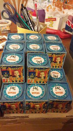 Toy story souvenirs cajitas madera con fotos.