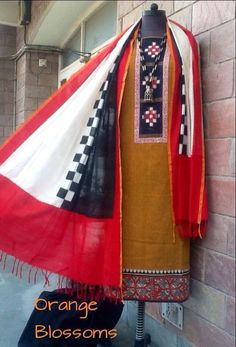 Ikat dupatta and outfit by www.facebook.com/orangeblossomwomensclothing
