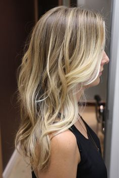 Blonde with some light brown! Deff want this colored this