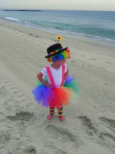 Rainbow Clown Tutu Costume - Clownin' Around Birthday Party Tutu Toddler TUTU. $58.00, via Etsy.