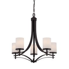 Colton Bronze Five-Light Chandelier