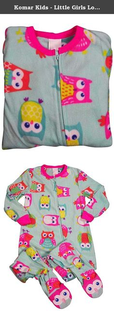 Komar Kids - Little Girls Long Sleeve Owl Blanket Sleeper, Turquoise 37556-4/5. Komar Kids - Little Girls Long Sleeve Blanket Sleeper, Turquoise, Ribbed Neck and Cuff Wrists, Zipper from Neck to Ankle, Elastic at Ankles, Owl Face on Foot Top, Non Skid Soles, Flame Resistant, 100% Polyester, Made in China, #37556 37-556.