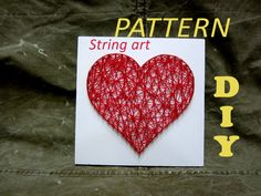 DIY String Art Kit Pattern Heart Pattern and Tutorial от OneRoots