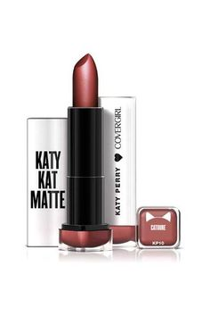 CoverGirl Katy Kat Matte Lipstick in Catoure, $6.94, available for pre-order at Walmart.