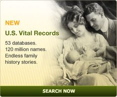 ANCESTRY.COM  Build your family tree and share information with others.