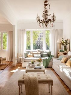 warm and cozy farmhouse style living room décor ideas - Roomaintenance Home Living Room, Living Room Designs, Living Room Decor, Cottage Style, Farmhouse Style, Decor Interior Design, Interior Decorating, Beautiful Interiors, New Furniture
