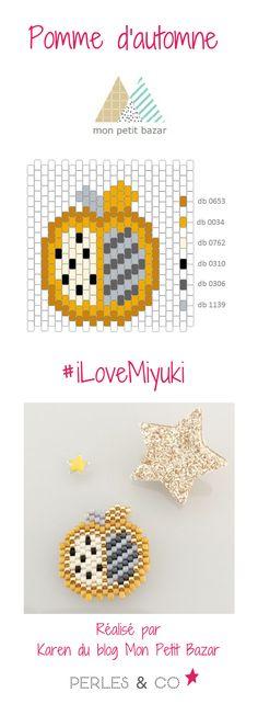 Les premiers froids de l'automne sont arrivés ... un temps idéal pour tisser des perles! Karen du blog Mon Petit bazar nous propose deux tissages  en  Miyuki Delicas 11/0 aux couleurs de l'automne : une pomme un motif parfait pour réaliser une broche qui ira avec nos pulls préférés!  Retrouvez la grille de tissage sur le site de Perles & Co >> https://www.perlesandco.com/Diagramme_pomme_et_poire_de_l_automne_par_Mon_Petit_Bazar-s-2785-47.html