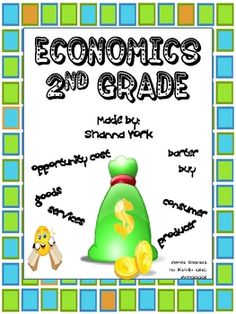 This unit covers various objectives having to do with Economics.  It includes a variety of activities, worksheets, songs and explanations of ideas ...