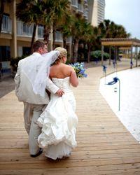 Beachfront Wedding And Reception At Seascape Resort In Destin