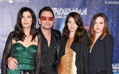 Ali, Bono, Eve and Jordan Hewson Paul Hewson, Bono U2, U 2, I Fall In Love, Cool Bands, Anastasia, First Love, Celebs, Formal Dresses