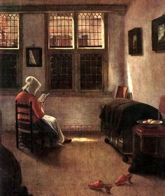 Elinga Pieter Janssen. Mujer leyendo.   [siglo XVII]