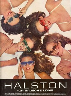 Halston sunglasses from 1978