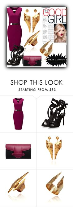 """blingsense 6"" by fatimka-becirovic ❤ liked on Polyvore featuring WithChic and Emeline Coates"