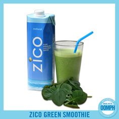 Looking for a green smoothie that actually tastes good? Try ZICO's new recipe for the ZICO Green Smoothie. 1 Cup ZICO Natural Pure Premium Coconut Water ½ Cup Ice 1 Cup Almond Milk ½ Cup Kale ½ Cup Spinach ½ Banana 4 Dates Vitamix Recipes, Raw Food Recipes, Smoothie Recipes, Healthy Recipes, Healthy Smoothies, Healthy Drinks, Green Smoothies, Healthy Food, Healthy Life