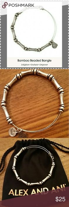 Bamboo Beaded Alex & Ani Bracelet This beautiful bracelet is a MUST to have in your collection!! BRAND NEW condition :) Alex & Ani Jewelry Bracelets