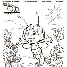 Bee Coloring Pages, Coloring For Kids, Maya, Snoopy, Fictional Characters, Free Coloring, Souvenirs, Drawings, Coloring Book
