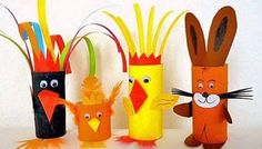 Toilet Paper Roll Crafts - Get creative! These toilet paper roll crafts are a great way to reuse these often forgotten paper products. You can use toilet paper Craft Activities, Preschool Crafts, Easter Crafts, Diy And Crafts, Crafts For Kids, Arts And Crafts, Children Crafts, Craft Kids, Toilet Roll Craft