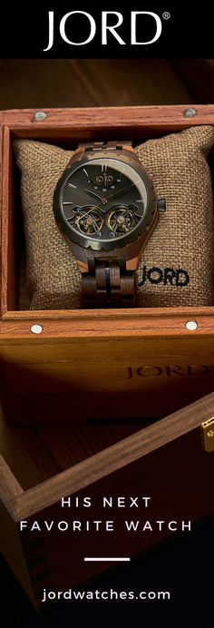 Is his collection missing something? Give him the perfect gift - a natural and luxury wood watch from JORD. Find his new timepiece at jordwatches.com