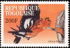 African Hoopoe stamps - mainly images - gallery format