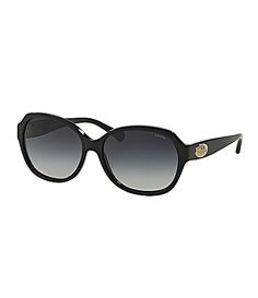 fcc209db48 COACH OVERSIZED GLAM HERITAGE SUNGLASSES  Dillards